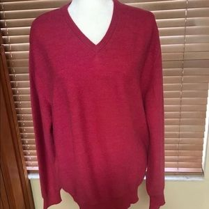 Peru Unlimited Mens Knitting Red V-Neck Sweater XL